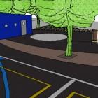 Voyez le plan-cour-2 de notre future cour d'école.